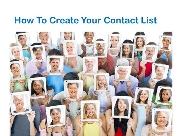 How To Create Your Contact List