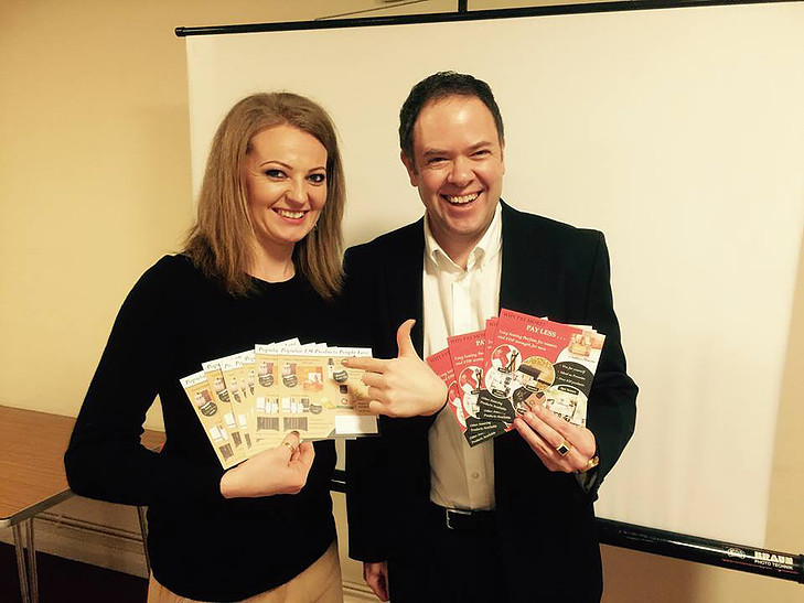 Julita and Roy launch Customer Square Cards