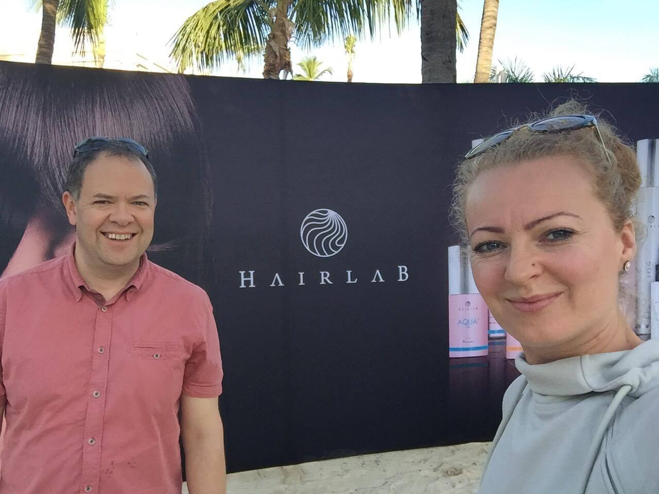 roy strong and julita habet in Punta Cana for Hairlab launch