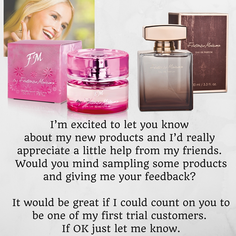 let you know about new products fm luxury perfume