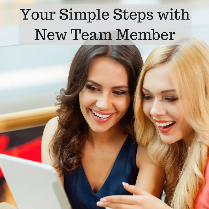 Your Simple Steps with New Team Member